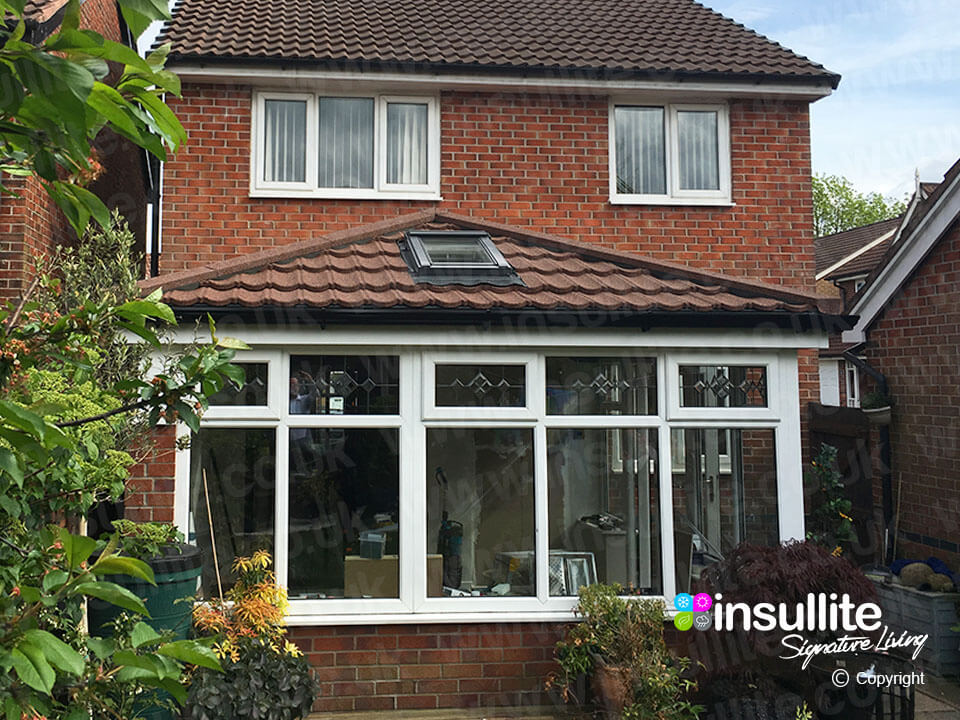 3 x 3 Edwardian Conservatory + Warm Tiled Roof System ...